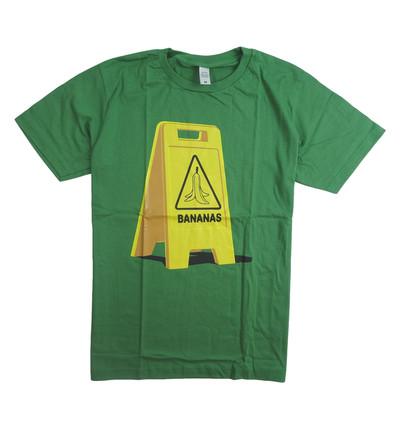 プリントTシャツ この先バナナ有 スリップ注意 メンズ/レディース/半袖/おもしろ/おしゃれ nki-0008-c1