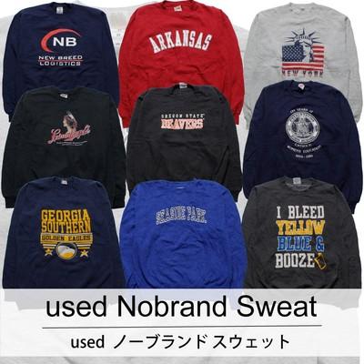 used Nobrand Sweat 古着 ユーズド ノーブランド スウェット 1枚あたり900円 10枚セット サイズ カラーMIX アソート use-0220
