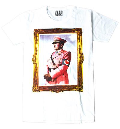 プリントTシャツ ピンク ヒトラー メンズ/レディース/半袖/おもしろ/おしゃれ ara-0157