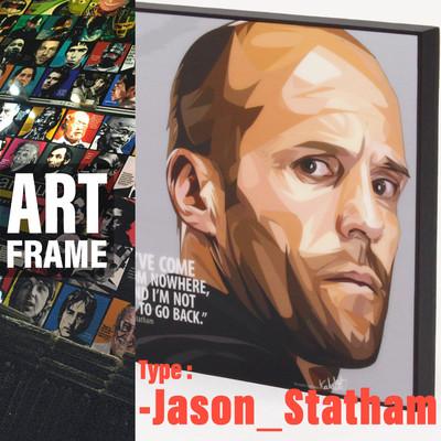 ポップアートフレーム 壁掛け 25cm×25cm  Jason_Statham インテリア/絵画/おしゃれ/雑貨 paf-0557