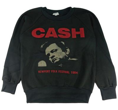 ロックトレーナー 裏起毛 Johnny Cash ジョニー キャッシュ Newport Folk Festival 1964 bs1-0025