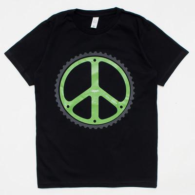 プリントTシャツ ピースマーク メンズ/レディース/半袖/おもしろ/おしゃれ nki-0042