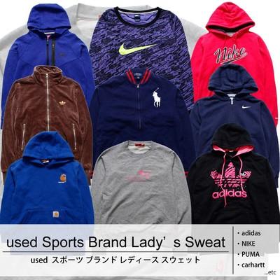 used Sports Brand Lady's Sweat 古着 ユーズド スポーツ ブランド レディース スウェット 1枚あたり1100円  10枚セット サイズ カラーMIX アソート use-0177