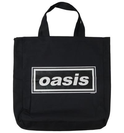ロックトートバッグ Oasis オアシス 文字ロゴ ブラック wob-0002