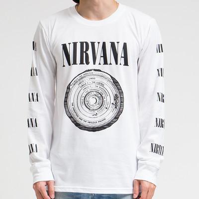 ロックTシャツ ロングTシャツ ロンT ニルヴァーナ サークル agl-0008