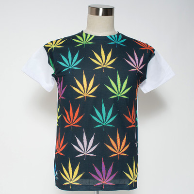 Gibage プリントTシャツ colorful hemp ggt-0193