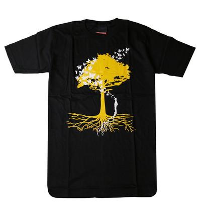 プリントTシャツ Piece of Nature 人間と自然 メンズ/レディース/半袖/おもしろ/おしゃれ udt-0006(unf-)