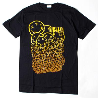 ロックTシャツ Nirvana ニルヴァーナ バブルニコちゃん wft-0230