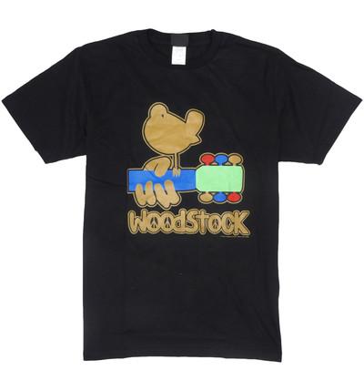 ロックTシャツ Woodstock ウッドストック ゴールドバード & ギター wft-0465