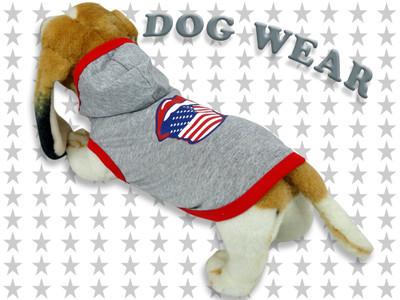 愛犬服 ドッグウェア フード パーカー 星条旗唇 犬/服/dog/wear/虫よけ/ハロウィン dw2-0004