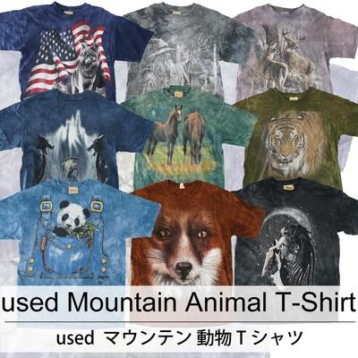 used Mountain Animal T-Shirt 古着 ユーズド マウンテン 動物 Tシャツ 1枚あたり800円  20枚セット サイズ カラーMIX アソート use-0201