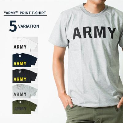 ARMY Tシャツ アーミー 半袖 クルーネック メンズ レディース 無地 Tシャツ Army ロゴ カレッジロゴ ミリタリー アメカジ トップス カットソー ティーシャツ ロゴT 黒 ブラック 白 ホワイト 緑 グリーン 紺 Tシャツ tat-0006