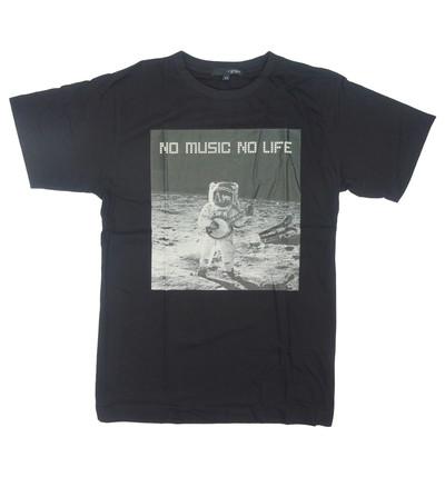 プリントTシャツ NO MUSIC NO LIFE メンズ/レディース/半袖/おもしろ/おしゃれ grt-0017
