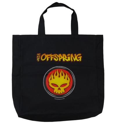 ロックトートバッグ The Offspring オフスプリング ファイアースカルロゴ ブラック wob-0015