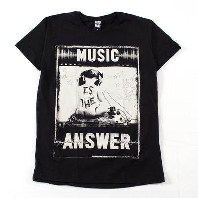 クルーネック プリントTシャツ 赤ちゃんレコード 星 mao-0037