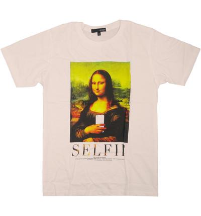 プリントTシャツ モナリザ Selfie メンズ/レディース/半袖/おもしろ/おしゃれ grt-0010-c1