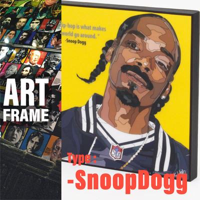 ポップアートフレーム 壁掛け 25cm×25cm SnoopDogg インテリア/絵画/おしゃれ/雑貨 paf-0632