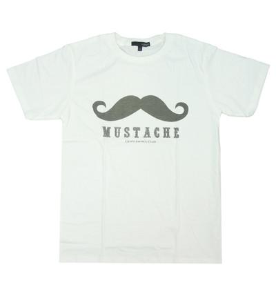 プリントTシャツ MUSTACHE メンズ/レディース/半袖/おもしろ/おしゃれ grt-0008