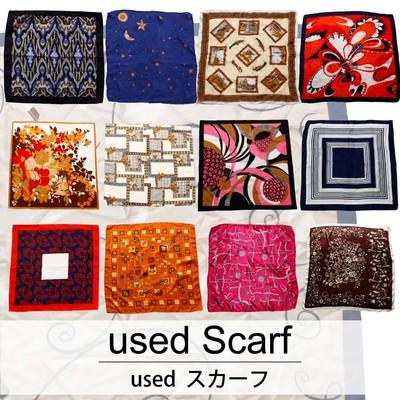 used Scarf 古着 ユーズド スカーフ 1枚あたり300円 20枚セット サイズ カラーMIX アソート use-0206