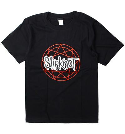 ロックTシャツ SlipKnoT スリップノット 九芒星 gts-0269