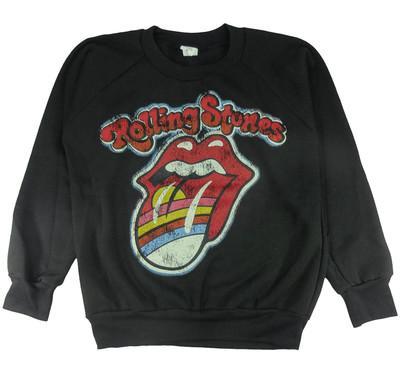 ロックトレーナー 裏起毛 The Rolling Stones ザ ローリング ストーンズ 虹色唇 bs1-0005