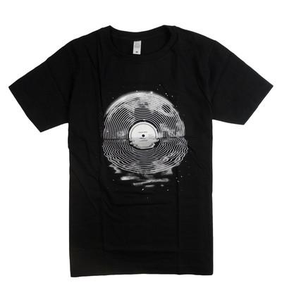 プリントTシャツ Moon Song ムーン ソング ブラック メンズ/レディース/半袖/おもしろ/おしゃれ nki-0013