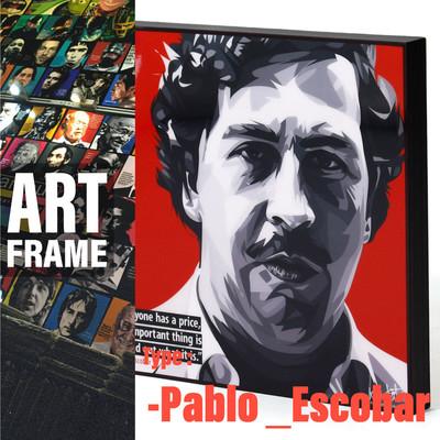 ポップアートフレーム 壁掛け 25cm×25cm Pablo_Escobar パブロ・エスコバル インテリア/絵画/おしゃれ/雑貨 paf-0378
