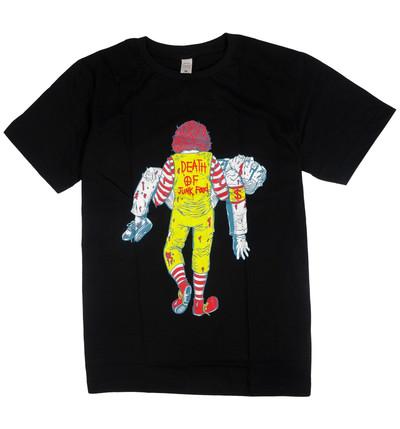 プリントTシャツ DEATH OF JUNK FOOD メンズ/レディース/半袖/おもしろ/おしゃれ nki-0001