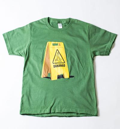 キッズ プリントTシャツ この先バナナ有 ボーイズ/ガールズ/半袖/おもしろ/子ども/ジュニア/子供服 gpk-0003