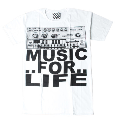プリントTシャツ Music For Life メンズ/レディース/半袖/おもしろ/おしゃれ ara-0184