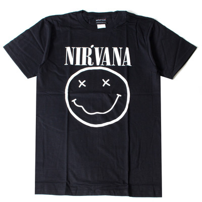 ロックTシャツ Nirvana ニルヴァーナ ニコちゃん Smiley Face wft-0471
