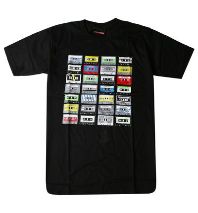 プリントTシャツ Cassette tapes レトロ カセットテープ メンズ/レディース/半袖/おもしろ/おしゃれ udt-0004(unf-)