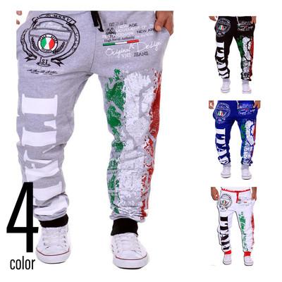Italy スウェットパンツ イージーパンツ メンズ ジャージ クロップドパンツ ジョガーパンツ スポーツパンツ ルームウェア ダンスパンツ フィットネス ランニング 大きいサイズ csl-0002