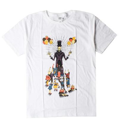 プリントTシャツ ドクロ 顔 風船 メンズ/レディース/半袖/おもしろ/おしゃれ nki-0019