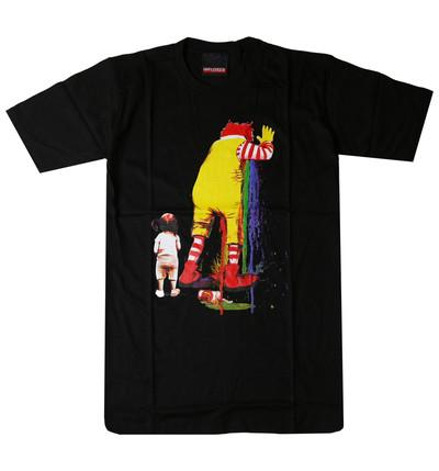 プリントTシャツ Rainbow Puke マク ピエロ メンズ/レディース/半袖/おもしろ/おしゃれ/ハロウィン urt-0012(unf-)