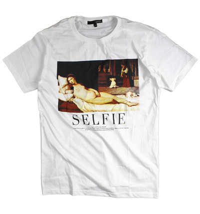 プリントTシャツ ウルビーノのヴィーナス Selfie メンズ/レディース/半袖/おもしろ/おしゃれ grt-0019