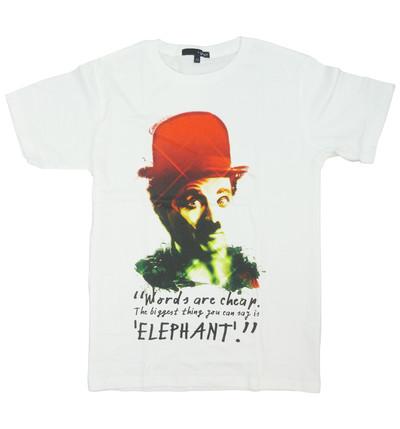 プリントTシャツ チャールズ チャップリン メンズ/レディース/半袖/おもしろ/おしゃれ grt-0011