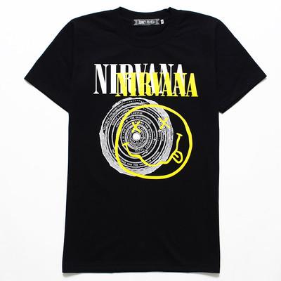 ロックTシャツ Nirvana ニルヴァーナ ニコちゃん×サークル jp2-0001