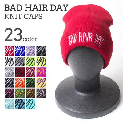 BAD HAIR DAY ビーニー帽 メンズ レディース ユニセックス ニットキャップ 無地 ニット帽 秋冬 アクリル ネオン ニット帽子 おしゃれ 帽子 cht-0007
