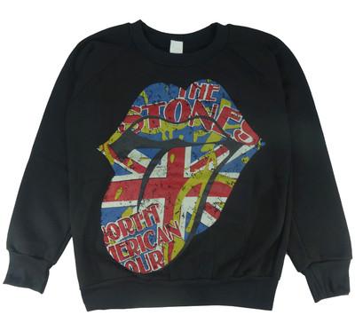 ロックトレーナー 裏起毛 The Rolling Stones ザ ローリング ストーンズ North American Tour bs1-0006
