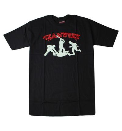 プリントTシャツ Teamwork チームワーク メンズ/レディース/半袖/おもしろ/おしゃれ udt-0018(unf-)