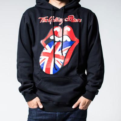 プルオーバー ロックパーカー The Rolling Stones ローリング ストーンズ 裏起毛/フード/パーカー/メンズ agp-0030
