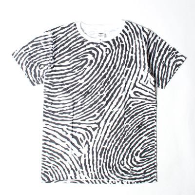 プリントTシャツ 指紋柄 メンズ/レディース/半袖/おもしろ/おしゃれ nki-0027