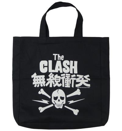 ロックトートバッグ The Clash ザ クラッシュ 無線衝突 ブラック wob-0011