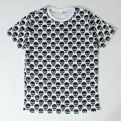 プリントTシャツ ドクロ模様 メンズ/レディース/半袖/おもしろ/おしゃれ/ttt-03/ttt-01 nki-0032