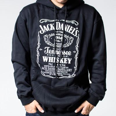 プルオーバー ロックパーカー Jack Daniel's ジャックダニエル ロゴ 裏起毛/フード/パーカー/メンズ agp-0033