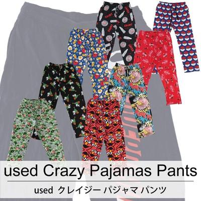 used Crazy Pajamas Pants 古着 ユーズド クレイジー パジャマ パンツ 1枚あたり900円  10枚セット サイズ カラーMIX アソート use-0205