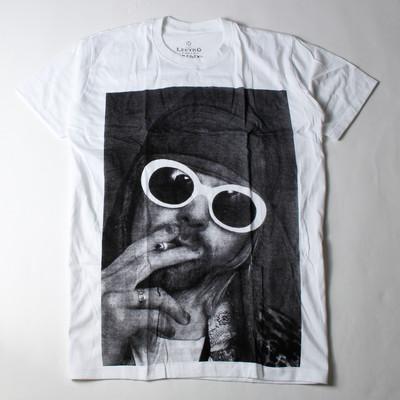 ロックTシャツ Kurt Cobain カート コバーン サングラス タバコ ebi-0306