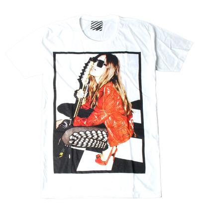 プリントTシャツ Guitar Girl メンズ/レディース/半袖/おもしろ/おしゃれ ara-0185