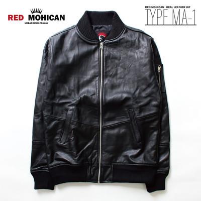 Red-Mohican 本革 ライダース ジャケット MA-1 メンズ/レディース/革ジャン/レザー/ブルゾン ljk-1009